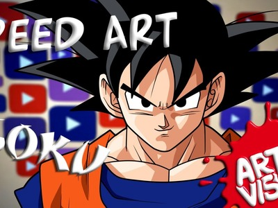 ARTE VISUAL - SPEED ART. GOKU (DRAGON BALL Z)