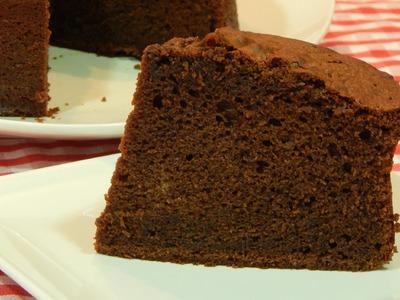 Bizcocho de chocolate esponjoso receta fácil paso a paso