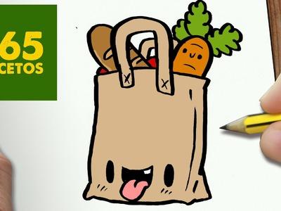 COMO DIBUJAR BOLSA  KAWAII PASO A PASO - Dibujos kawaii faciles - How to draw a BAG