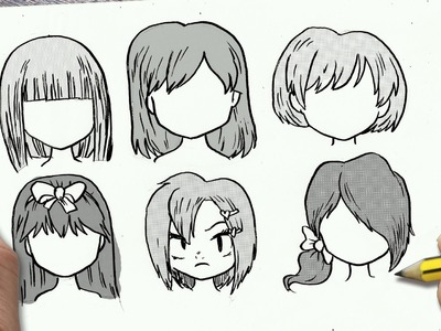 COMO DIBUJAR CABELLO ANIME. COMO DIBUJAR CABELLO MANGA - How to draw hair