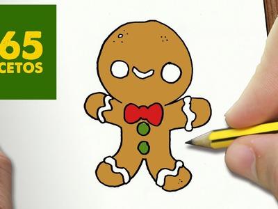 COMO DIBUJAR GALLETA PARA NAVIDAD PASO A PASO: Dibujos kawaii navideños - How to draw a cookie