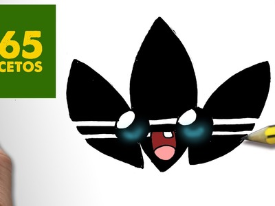 COMO DIBUJAR LOGO ADIDAS KAWAII PASO A PASO - Dibujos kawaii faciles - How to draw a logo Adidas