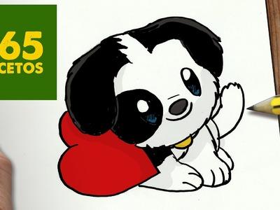 COMO DIBUJAR PERRITO KAWAII PASO A PASO - Dibujos kawaii faciles - How to draw a DOG