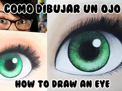 CÓMO DIBUJAR UN OJO con Colores Pastel (English Subs) | Diana Díaz