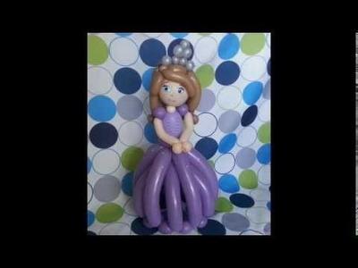 Como hacer a la princesa sofia con globos