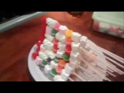 Como hacer brochetas de gomitas y bombones (facilisimo para principiante)