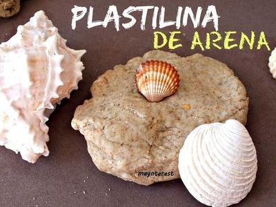 Cómo hacer PLASTILINA DE ARENA (2 recetas)