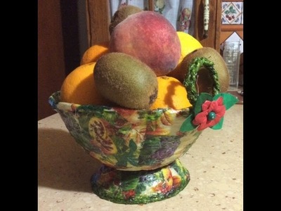 Como Hacer un Frutero con Cuerdas de Crim - How to make a Fruit bowl with Crim strings.
