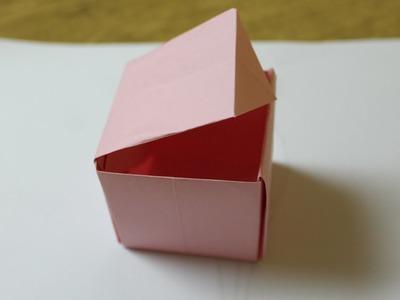 Como hacer una caja de papel con tapa