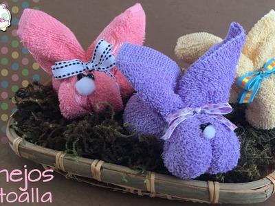 Conejo de Toalla :: Toallas DIY :: Recuerdos y Regalos de Baby Shower :: Chuladas Creativas