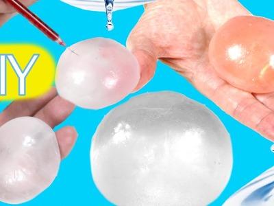 DIY globos de agua o gotas de lluvia con pegamento. Experimentos fáciles