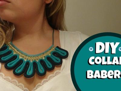Haz tu collar babero de cordón y cristales- Bib Necklace