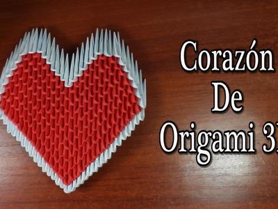 Heart. Corazón De Origami 3D TUTORIAL!