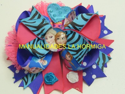 Moños combinados , PAP Lazos cinta gros ,How To Make A Hair Bow
