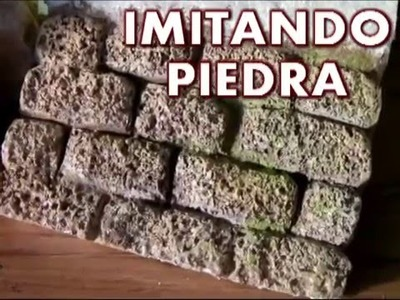 Pared de piedra en porexpan, anime, icopor,