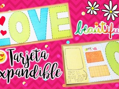 Tarjeta Expandible LOVE para novio.decoracion.mlwest ♥