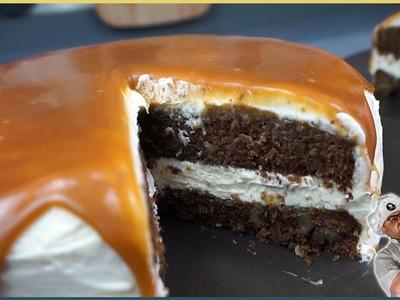 Tarta de brownie con salsa de toffee - Receta