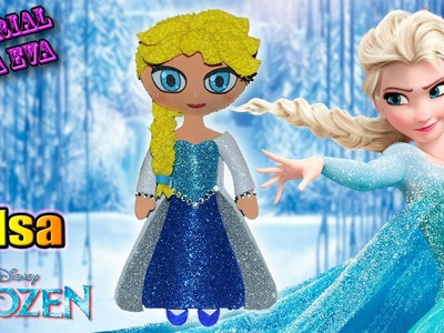 ♥ Tutorial: Elsa de Frozen de Goma Eva en Relieve (Foamy) ♥