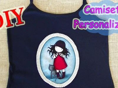 Camiseta personalizada con tela Gorjuss -  Custom shirt fabric Gorjuss