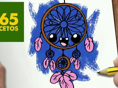 COMO DIBUJAR atrapa sueños KAWAII PASO A PASO - Dibujos kawaii faciles - How to draw a atrapa sueños