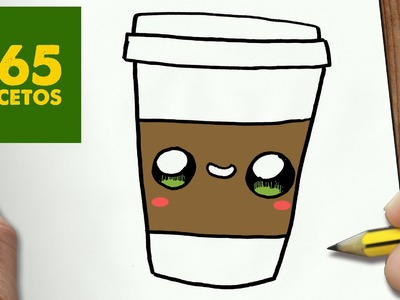 COMO DIBUJAR CAFE KAWAII PASO A PASO - Dibujos kawaii faciles - How to draw a COFFEE