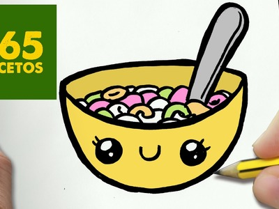 COMO DIBUJAR CEREALES KAWAII PASO A PASO - Dibujos kawaii faciles - How to draw a CEREALS