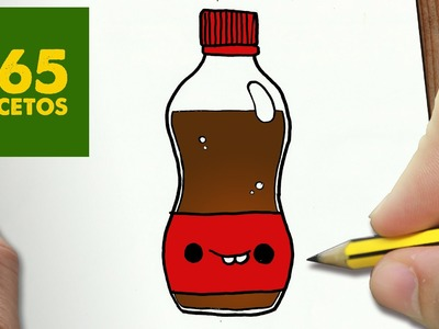 COMO DIBUJAR COCACOLA KAWAII PASO A PASO - Dibujos kawaii faciles - How to draw a COCACOLA