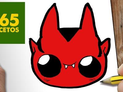COMO DIBUJAR DEMONIO KAWAII PASO A PASO - Dibujos kawaii faciles - How to draw a DEVIL