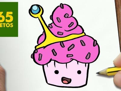 COMO DIBUJAR DULCE PRINCESA CUPCAKE PASO A PASO - Dibujos kawaii faciles - draw Princess Bubblegum
