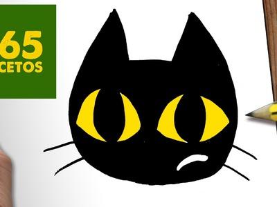 COMO DIBUJAR GATO KAWAII PASO A PASO - Dibujos kawaii faciles - How to draw a CAT