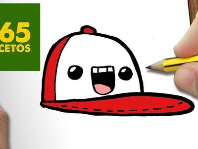 COMO DIBUJAR GORRA KAWAII PASO A PASO - Dibujos kawaii faciles - How to draw a CAP