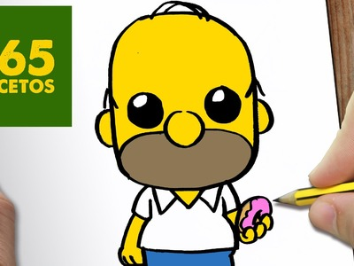 COMO DIBUJAR HOMER KAWAII PASO A PASO - Dibujos kawaii faciles - How to draw a Homer