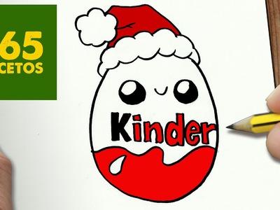 COMO DIBUJAR HUEVO KINDER PARA NAVIDAD PASO A PASO: Dibujos kawaii navideños - How to draw a Kinder