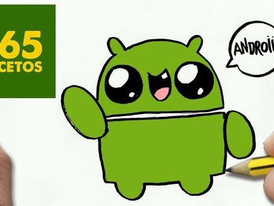 COMO DIBUJAR LOGO ANDROID KAWAII PASO A PASO - Dibujos kawaii faciles - How to draw a Logo Android