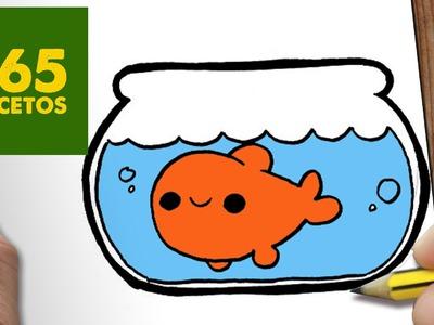 COMO DIBUJAR PECERA KAWAII PASO A PASO - Dibujos kawaii faciles - How to draw a FISHBOWL
