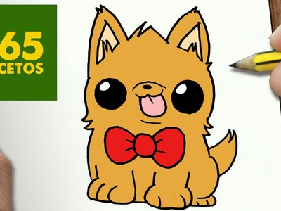 COMO DIBUJAR PERRITO KAWAII PASO A PASO - Dibujos kawaii faciles - How to draw a dog
