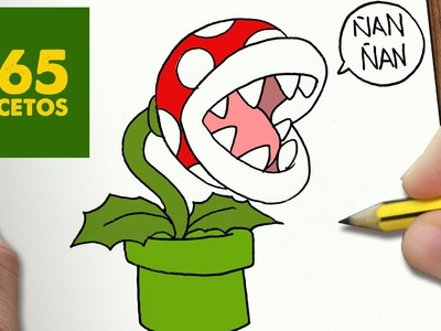 COMO DIBUJAR PLANTA PIRAÑA KAWAII PASO A PASO - Dibujos kawaii faciles - draw a carnivorous plant
