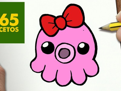 COMO DIBUJAR PULPO KAWAII PASO A PASO - Dibujos kawaii faciles - How to draw a octopus