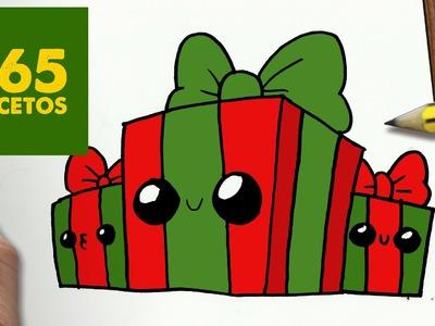 COMO DIBUJAR REGALOS NAVIDAD KAWAII PASO A PASO - Dibujos kawaii faciles - draw a CHRISTMAS PRESENTS