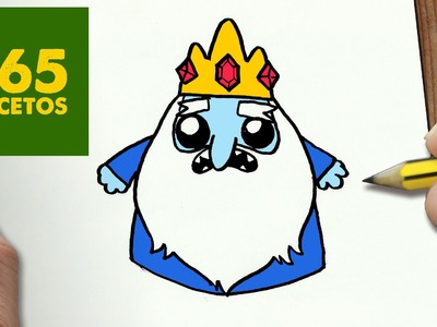 COMO DIBUJAR REY HELADO KAWAII PASO A PASO - Dibujos kawaii faciles - How to draw Ice King