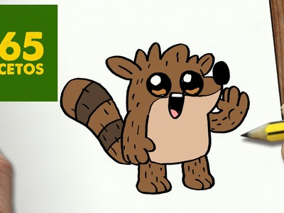 COMO DIBUJAR RIGBY KAWAII PASO A PASO - Dibujos kawaii faciles - How to draw Rigby