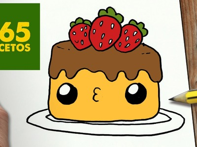 COMO DIBUJAR TARTA KAWAII PASO A PASO - Dibujos kawaii faciles - How to draw a cake
