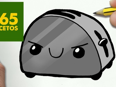 COMO DIBUJAR TOSTADORA KAWAII PASO A PASO - Dibujos kawaii faciles - How to draw a TOASTER