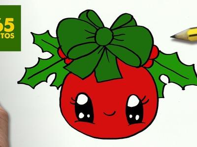 COMO DIBUJAR UN BOLA PARA NAVIDAD PASO A PASO: Dibujos kawaii navideños - How to draw a ball