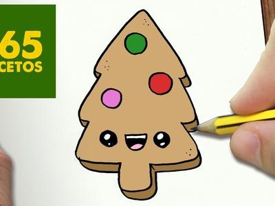 COMO DIBUJAR UN GALLETA ARBOL PARA NAVIDAD PASO A PASO: Dibujos kawaii navideños -  draw a cookie