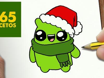 COMO DIBUJAR UN LOGO ANDROID PARA NAVIDAD PASO A PASO: Dibujos kawaii navideños - draw a ANDROID