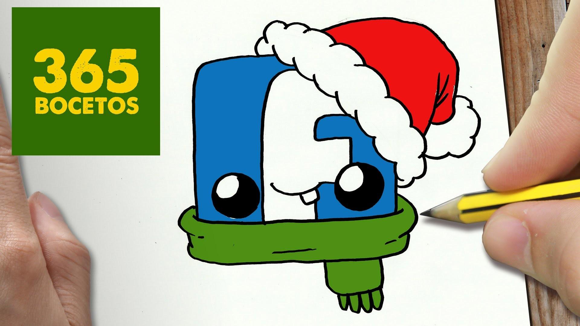 Como Dibujar Un Cuaderno Para Navidad Paso A Paso Dibujos: COMO DIBUJAR UN LOGO FACEBOOK PARA NAVIDAD PASO A PASO