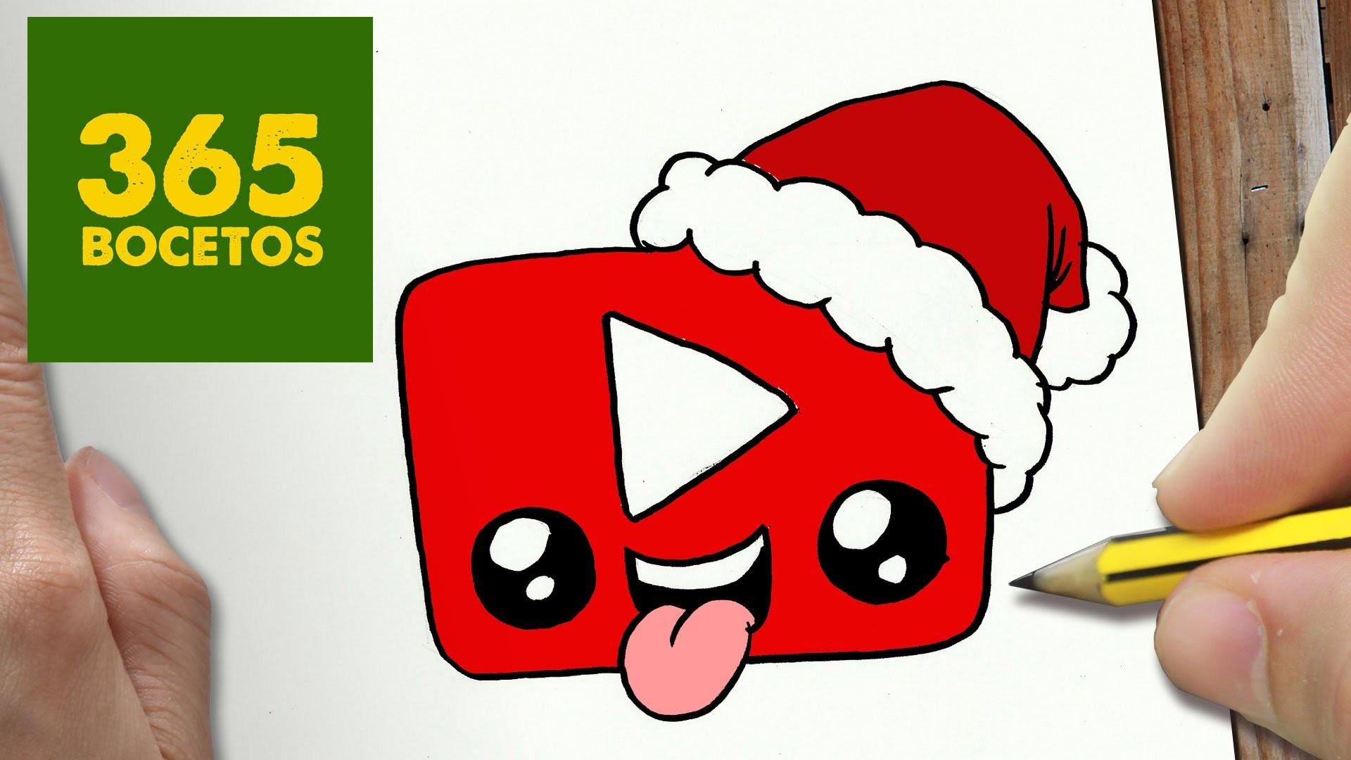 Como dibujar un logo youtube para navidad paso a paso for Comedor facil de dibujar