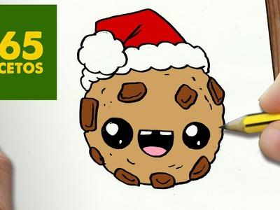 COMO DIBUJAR UNA GALLETA PARA NAVIDAD PASO A PASO: Dibujos kawaii navideños - How to draw a Cookie