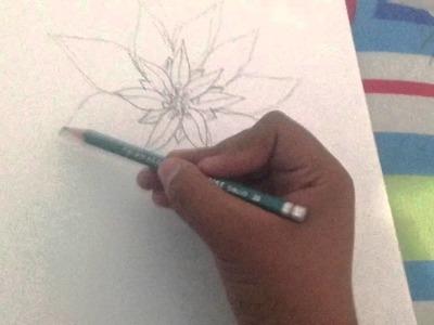 Como dibujar una NOCHEBUENA ESPECIAL NAVIDEÑO